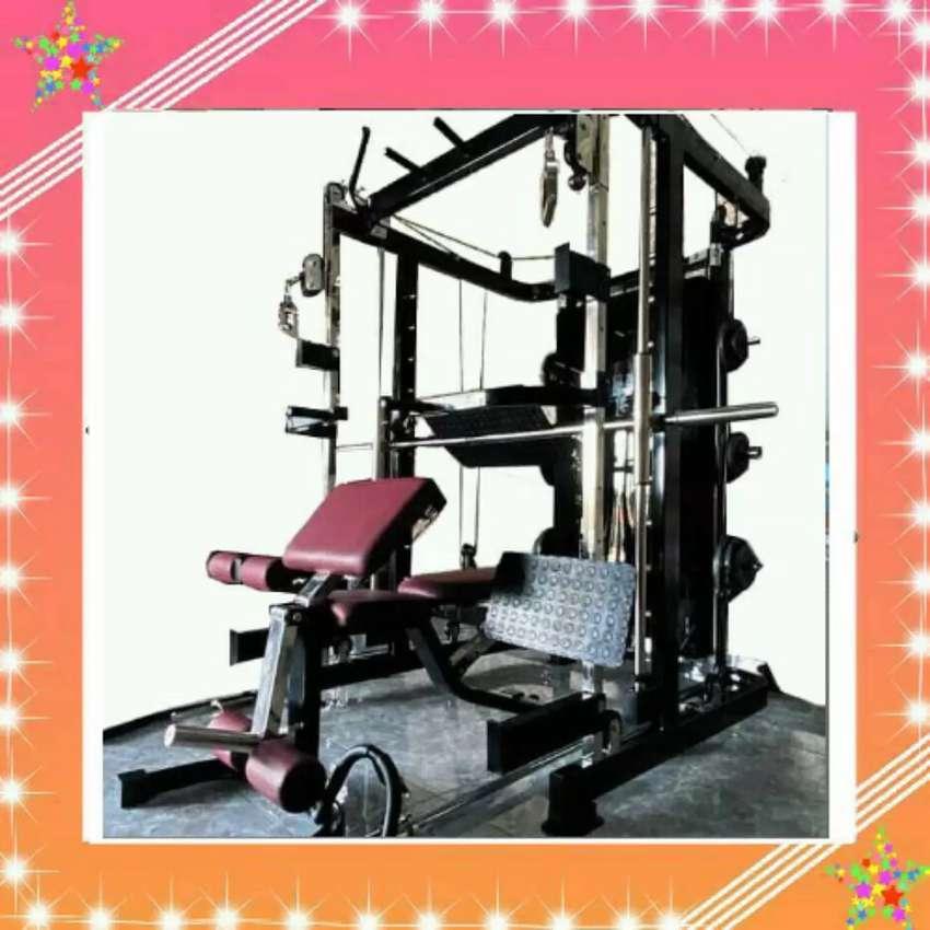 ALAT GYM SURABAYA SMITH MACHINE G12 + LEG PRESS 0