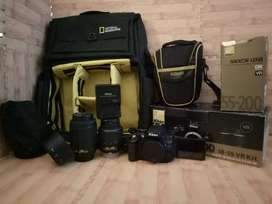 NIKON D5100 KIT 18-55MM + NIKKOR LENS 55-200MM