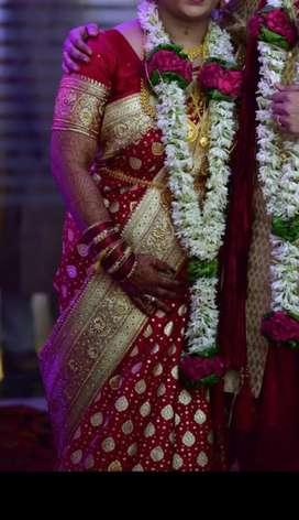 Bridal saree from asopalav silk house dadar.