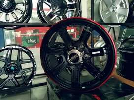 Velg mobil racingg fortuner ring 18x8 hsr siak original lobang 6x139,7