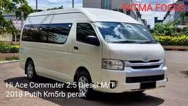 Toyota Hiace Commuter Line 2.5 Diesel Manual 2018 Putih Km5rb Perak
