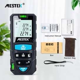 Laser Meter Mestek 50M S6 Distance 50 Meter Digital Meteran Waterpass