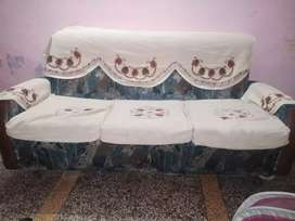 Sofa set with cover