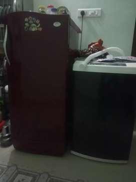 Fridge and washing machine