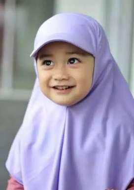 Jilbab Topi Anak Perempuan