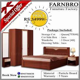 Bedroom set in delivery available here