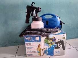Mini compresor + spray gun untuk cat portable