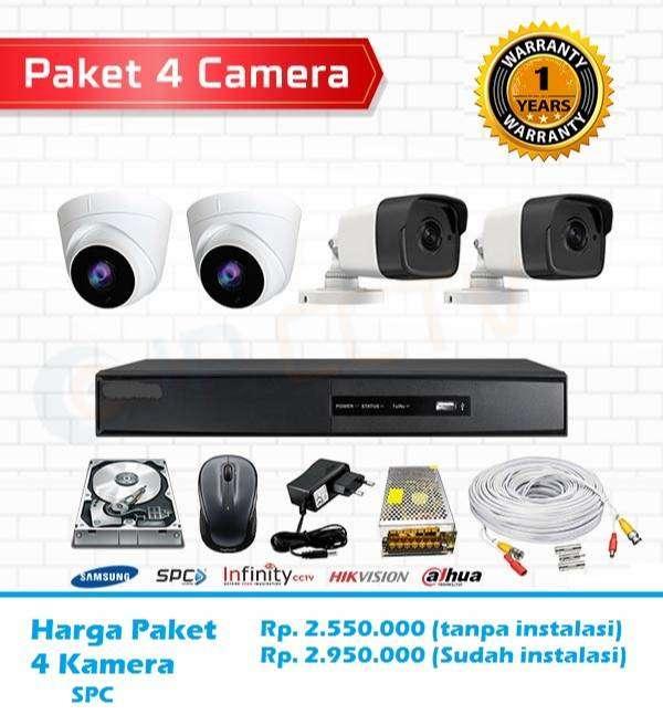 Paket CCTV Full HD 1080P Gambar bening komplit Pasang 0