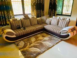 2 year old furniture .. not used as m NRI . sofa