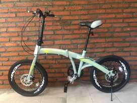 Sepeda Genio F-211 Disc Ukuran 20 Untuk Remaja dan Dewasa