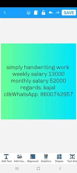 Good handwriting work