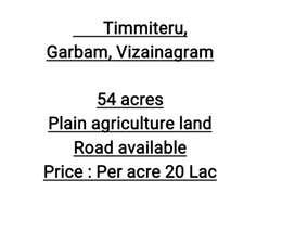 Timmiteru, Garbam, Vizainagram 54 acres
