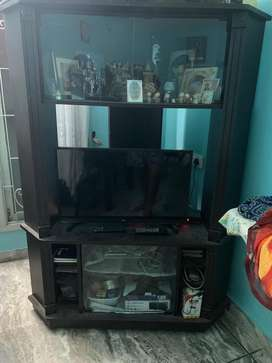 Tv cabinet, shelves and showcase