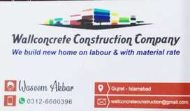 Construction work in River garden Gujrat