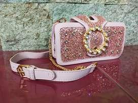 Tas Fashion Clutch Selempang Wanita Import Kekinian