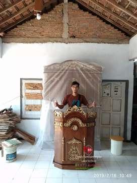 Mimbar masjid ukir koster