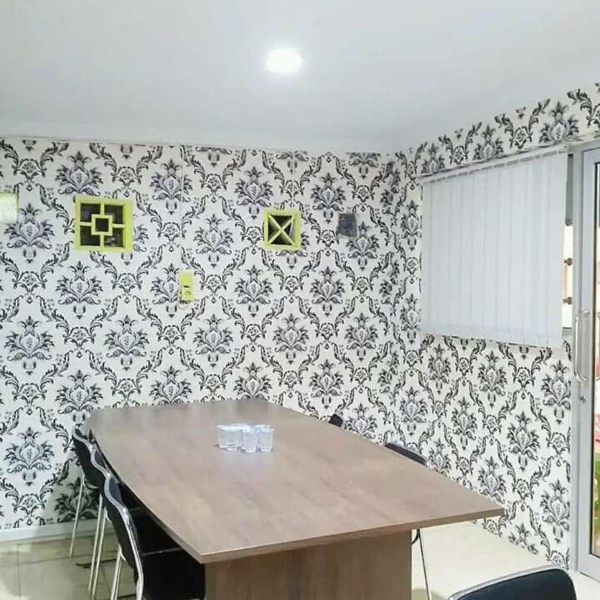 Wallpaper hiasan rumah anda dinding terbaik.wallpapers motif lengkap