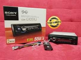 Single Din Sony CDX-G1051 CD USB MP3 AUXIN Output Audio 4x55 watts