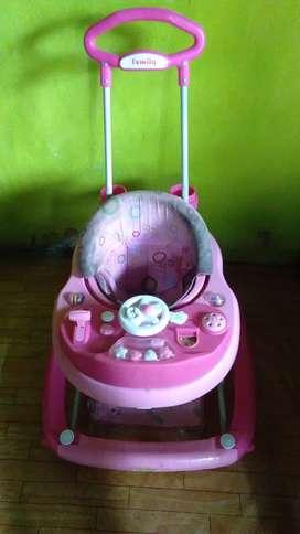 """Baby walker merk""""family"""" pink"""