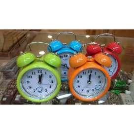 Jam waker polos diameter 8cm tinggi 13cm