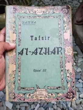 Buku Antik Tafsir Al-Azhar Djuzu III Buya Hamka Cetakan Pertama