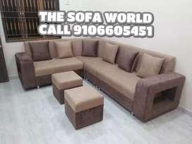Exclusive Nexa collection corner sofa sofa with stools