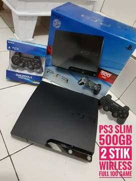 [DIJUAL] PS3 Slim ISTIMEWA hdd 500GB / 2 Stik / 100 game