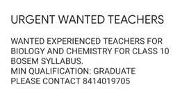 Experienced Teachers only