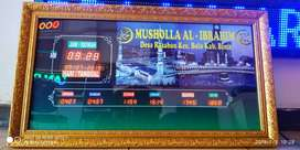 Jam Digital Shalat utk Masjid dan Mushalla Setting Otomatis