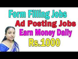 Earn upto 45K - Simple Typing/ Form Filling / Data entry job openings