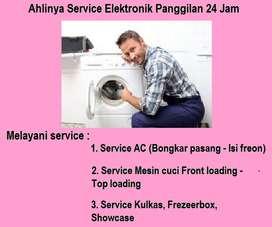 Terima servis Mesin cuci bongkar pasang Ac,kulkas 2pintu/pompa air