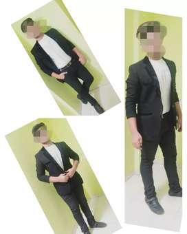 Black blazer for man