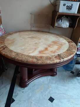 v beautiful original marble dining with 6marble chairs