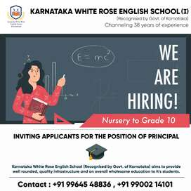 Need experienced Principal for Primary School