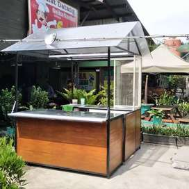 Container booth cafe,booth usaha,booth baso,booth dimsum, booth jualan