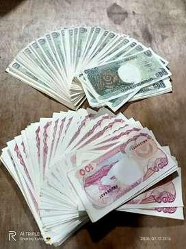 Uang 100 lama dan 500 lama