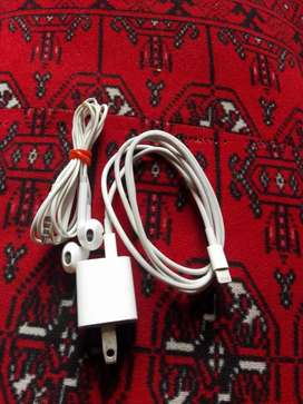 iphone.5s. ka orgnial charger or handfree