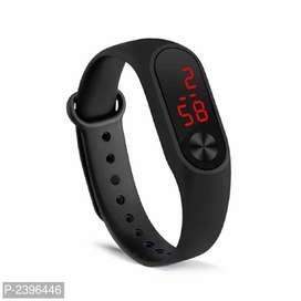 Black unisex rubber band watch