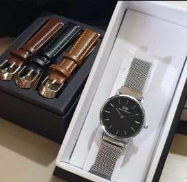 Jam tangan daniel wellington free strap fullset