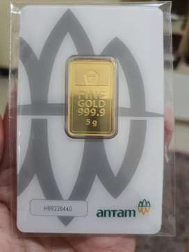 Emas Antam Batangan 5 Gram 24 Karat Press Th 2020