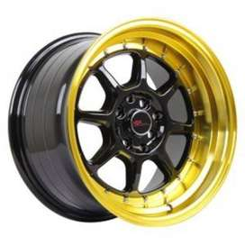 velg HSR-SC-03-8003-Ring-16X8-9-H8X100-114,3 ET30-25-Black-Gold-Lips