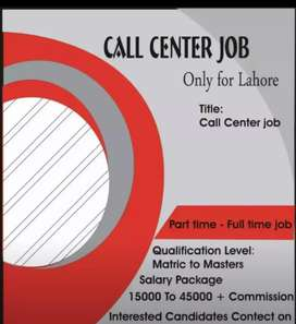 Job for males and females in Lahore