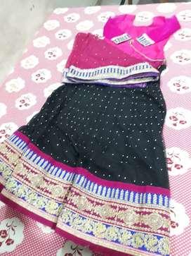 Lanhga with net fabric
