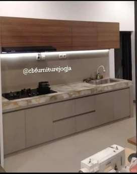 Kitchenset dapur Minimalis, finishing dg HPL berkualitas