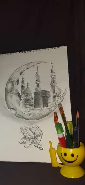 Mosque pencil shading