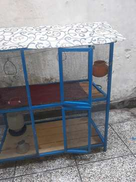 Heavy Iron Cage for Birds/ Budges/ Hens