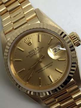 Rolex ladies All gold 18K Kondisi 96% like new !!