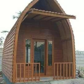 Rumah bunglow kayu jati 3x5m