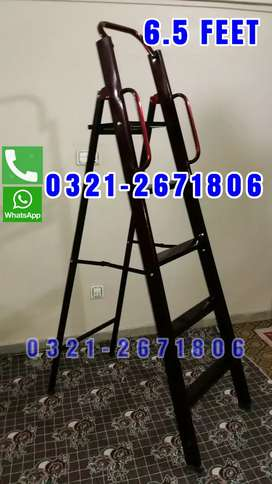 METAL LADDER LOW WEIGHT EASY MOVEABLE 6.5 FEET   HOME USED