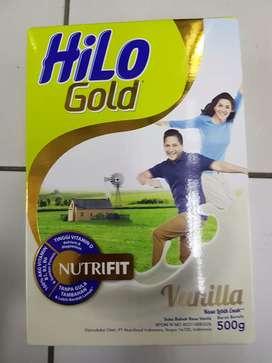 Susu Dewasa HiLo GOLD rasa Vanila 500 gr utk usia di atas 50 th - Baru